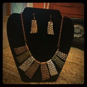 Jewelry - 3/$20 Multi-toned Necklace and Earrings Set